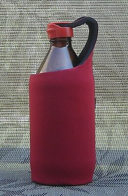 BEER MATE - STUBBY HOLDER - KOOZIE COOLER - Cap Lid - Keep out WASPS! - Red