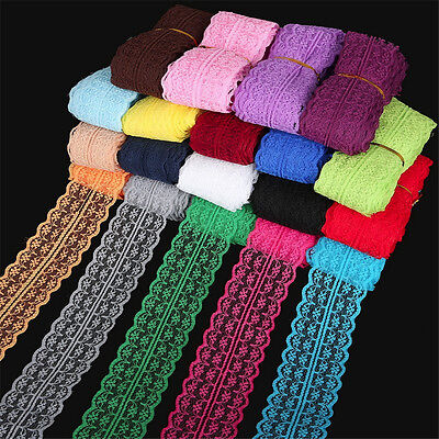 10 Yard/lot Lace Ribbon Tape 45MM Lace Trim Fabric DIY Embroidered Sewing tatt