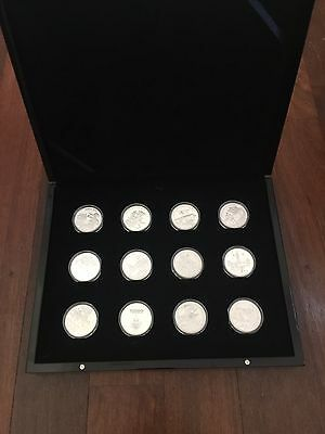 Macquarie Mint 12 Silver Coin Set In Case Inc Victoria Cross Medal WWI Proof