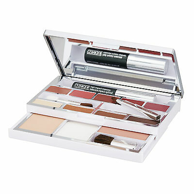 Clinique All-in-One Colour Palette Set Eyeshadow Blush Mascara Brush Lipstick