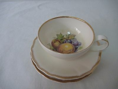 Royal Staffordshire Clarice Cliff Summer Fruits Trio