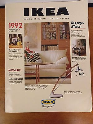 Vintage IKEA 1992 French Canadian Catalogue Furniture Book Collectors Preowned