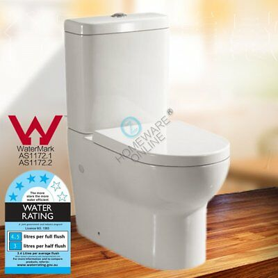 Wall Faced Toilet Suite S P TRAP Soft Close Seat WELS WATERMARK FULL CERAMIC NEW