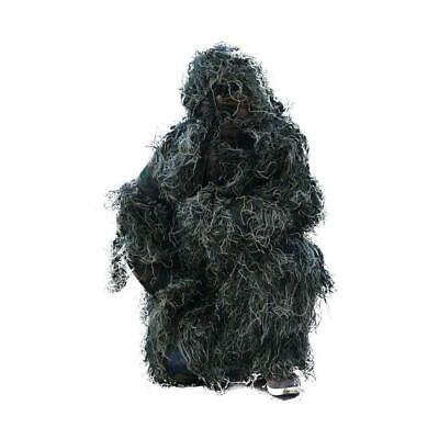 5PCS Ghillie Suit Woodland 3D Camouflage Hunting Archery Sniper Hiding Clothing