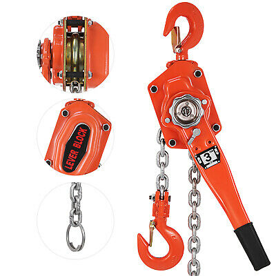 3T 6600lb Lift Lever Block Chain Hoist Comealong Lift Puller 3Ton 5