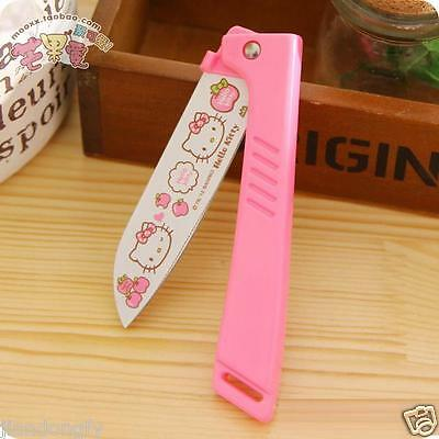 Cute cat Portable Folded Stainless Steel Fruit Vegetable Cutter Knife New