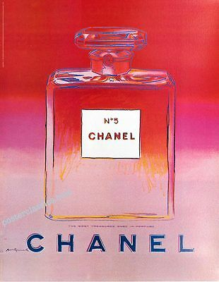 "Chanel N°5. Andy Warhol / Rose-Orange/ Grand Format.47"" x 63"""