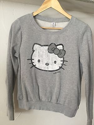 Hello Kitty : Sweat - pull Vintage gris clair Femme - Taille 40