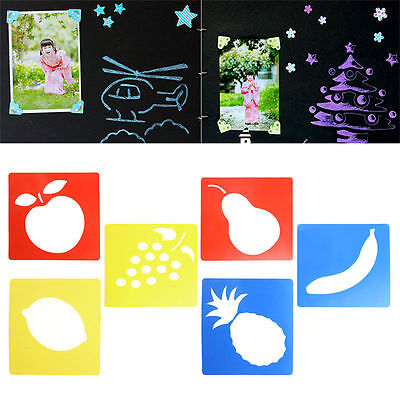 6Pcs Plastic Picture Drawing Template Stencils Rulers Painting Kids DIY Gift