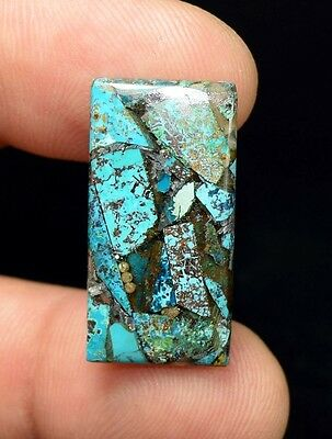 Beautiful ! 10.55 Cts. Natural  Silver  Azurite  Cushion Cab For Silver Pendant
