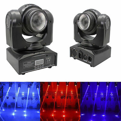 20W 2X LED Double Sides RGBW Spot Moving Head Stage Lighting DMX DJ Party Light