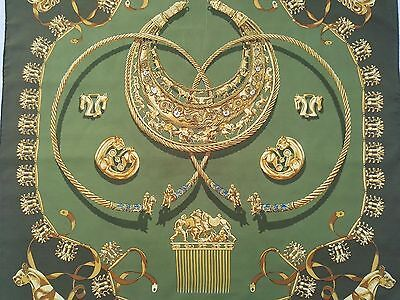 Hermes Paris Foulard Donna Woman Scarf Echarf In Seta Silk Les Cavaliers D'or