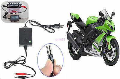 New Motorcycle 12 Volt Battery Maintainer Tender Trickle Float Smart Charger 12v