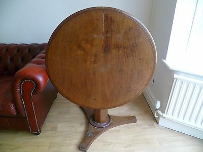 Antique,Victorian,tilt top,round,table,Mahogany,tripod base.USE OR RESTORE