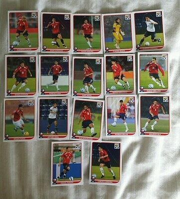 Official Panini 2010 World Cup Chile Team Popup Complete Set