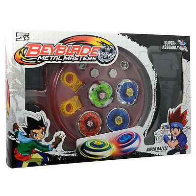 Metal Fusion Master Gift Beyblade Fight Launcher Rare Toy Set 4D for Kids Burst