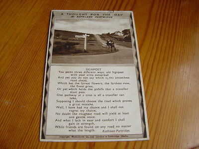 SAP006 - Postcard - Thought for the Day by Kathleen Partridge, Signpost 1945