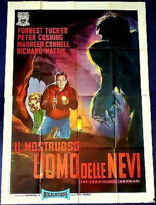 Manifesto Poster Movie Cinema Il Mostruoso Uomo Delle Nevi Cushing Horror Hammer