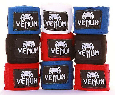 Venum MMA Hand Wraps Cotton Boxing Bandages Wrist Muay Thai 2.5m 4m All Colours