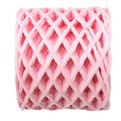 30 Meters Pink Raffia Paper Ribbon Rope Cords for Gift Wrap String Crafts