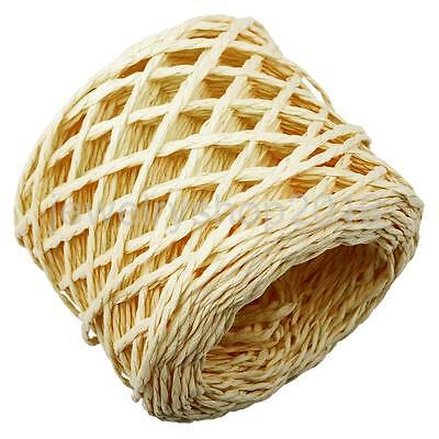 30 Meter Yellow Raffia Paper Ribbon Cord Rope for Gift Wrapping Scrapbooking