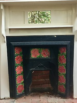 Edwardian cast iron fireplace with wooden mantel piece