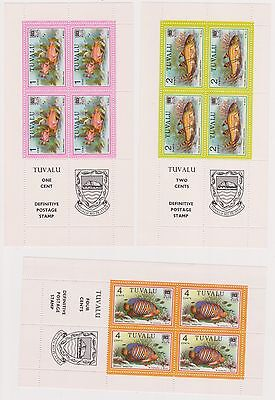 (K33-21) 1979 Tuvalu 19set of 19 panes fish series stamps 1c to $5 MUH