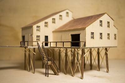 TT scale (1:120) model of American coal mine building, unbuilt kit