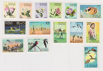 (K33-19) 1973 Nauru 14set of definitive stamps 1c to $1.00 (A) MUH