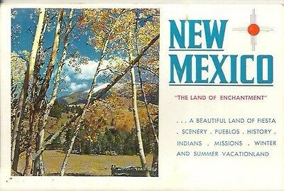 Vintage 1970's Greetings from NEW MEXICO Postcard Album - Multi Color Views