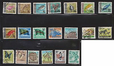(U28-4) 1965-90s Tanzania mix of 39 stamps value to 300/- (A)