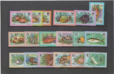 (K33-28) 1979 Tuvalu part 18set fish 1st series 1c to $5 (no 45c) MUH