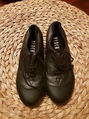 Bloch Black Shockwaves Lace Up Tap Shoes Leather #3