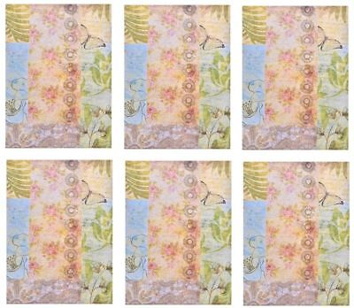 OCEAN BREEZE SCENTED PERFUMED DRAWER LINERS PAPER SHEETS WARDROBE 6pcs 59x43cm