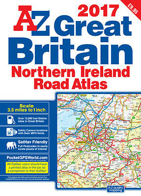 Great Britain Road Atlas: 2017 by Geographers' A-Z Map Co Ltd (Paperback)