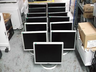 """JOB LOT 13 X DELL Monitor Displays with Stands 19"""" 17"""" 1907FPV 1704FPV 1703FP"""