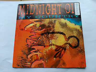Promo Single Sided Midnight Oil - My Country - Cbs Spain 1993 Vg+