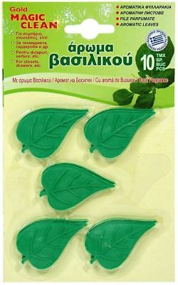 BASIL AROMATIC SCENTED PERFUMED LEAVES CLOSET DRAWER MOTH REPELLENT 10pcs
