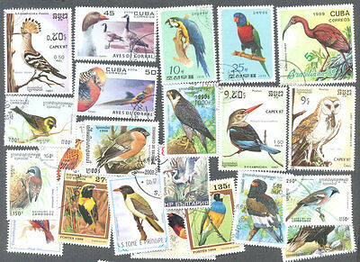 Birds on stamps 200 all different collection - World Birds
