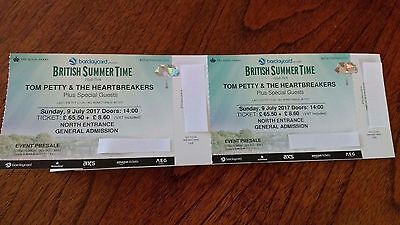 Concert tickets Tom Petty + Guests British Summer time Sunday 9th July