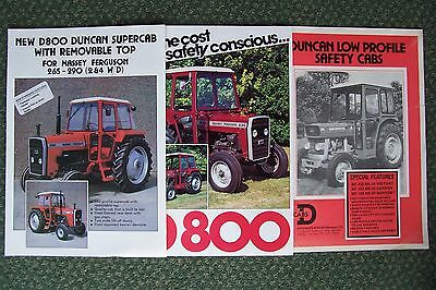 Duncan Cabs For Massey Ferguson Tractors Sales Brochures