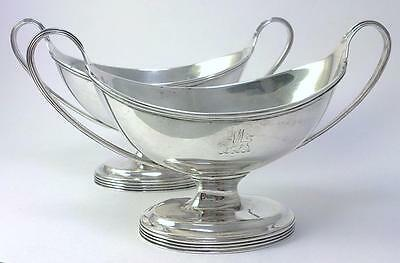 Pair of Victorian hallmarked Sterling Silver Salt Cellars / Dishes – 1883 (194g)