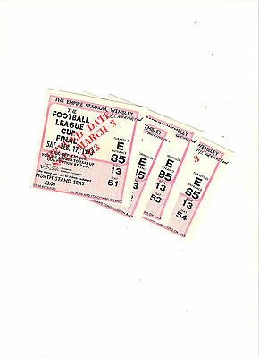 1973 League Cup Final Tickets---Norwich v Tottenhham---highly collectable