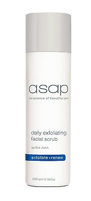 ASAP Daily Exfoliating Facial Scrub 200ml (Exfoliate + Renew)