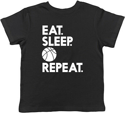 Eat Sleep Basketball Repeat Childrens Kids Boys Girls Tee T-shirt