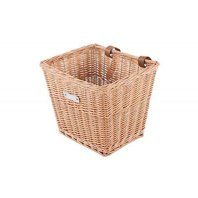 Bobbin Everyday Wicker Square Cycle Basket Leather Straps Ladies Classic Bikes