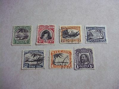 NIUE Cook Islands Stamps SG 62-8 Scott 60-6 Fine Used