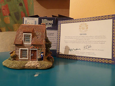 Lilliput Lane The Nutshell boxed with deeds, perfect, 1992