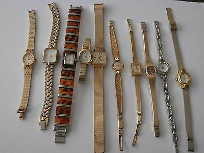 Job lot gold ladies 10 x watches