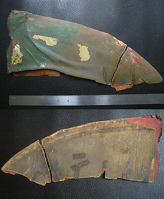 Ww1 German Aircraft Camouflage Fabric And Ply From Tail Section